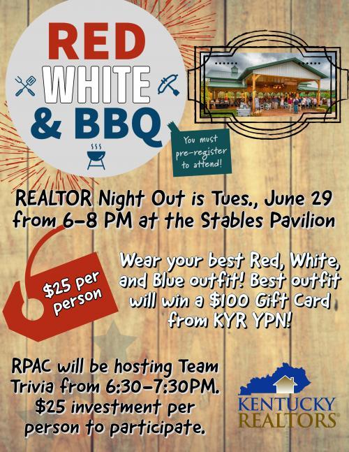 Red, White & BBQ Flier